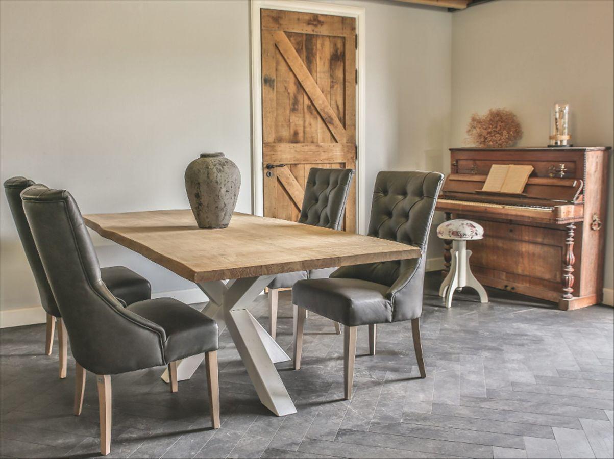 massiver esstisch holztisch tisch mit fu spider in. Black Bedroom Furniture Sets. Home Design Ideas